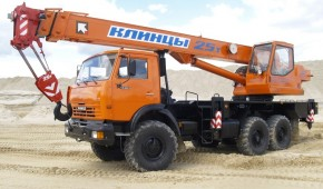 "Автокран вездеход 25 тонн  ""Клинцы"""